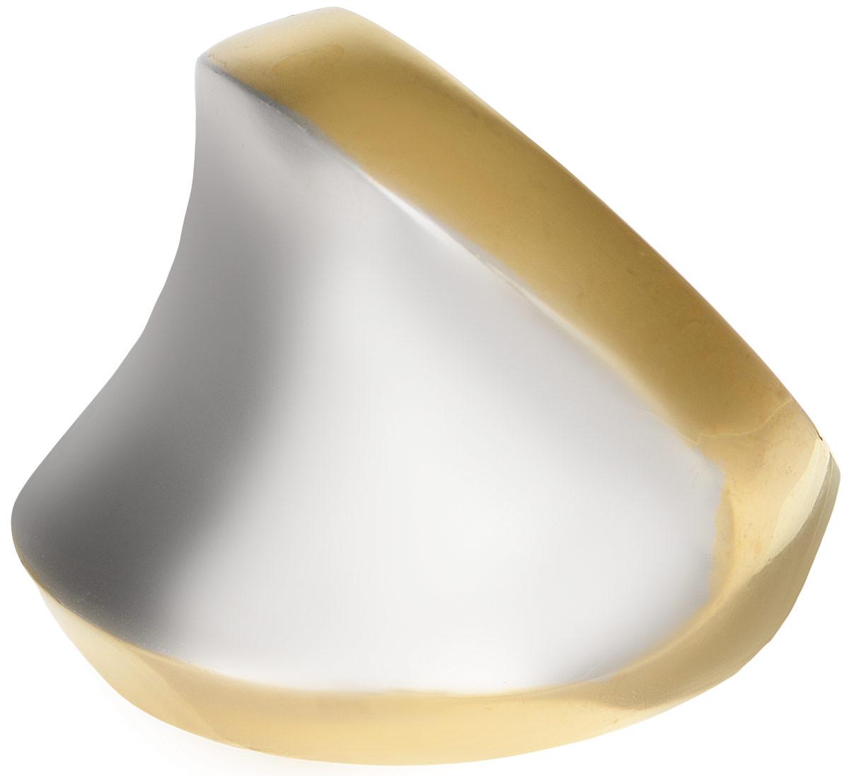Кольцо Polina Selezneva, цвет: золотистый, серебристый. DG-0026. Размер 19DG-0026-09Оригинальное кольцо Polina Selezneva выполнено из металлического сплава. Оформлено изделие интересной вогнутой формы. Такое кольцо это блестящее завершение вашего неповторимого, смелого образа и отличный подарок для ценительницы необычных украшений!