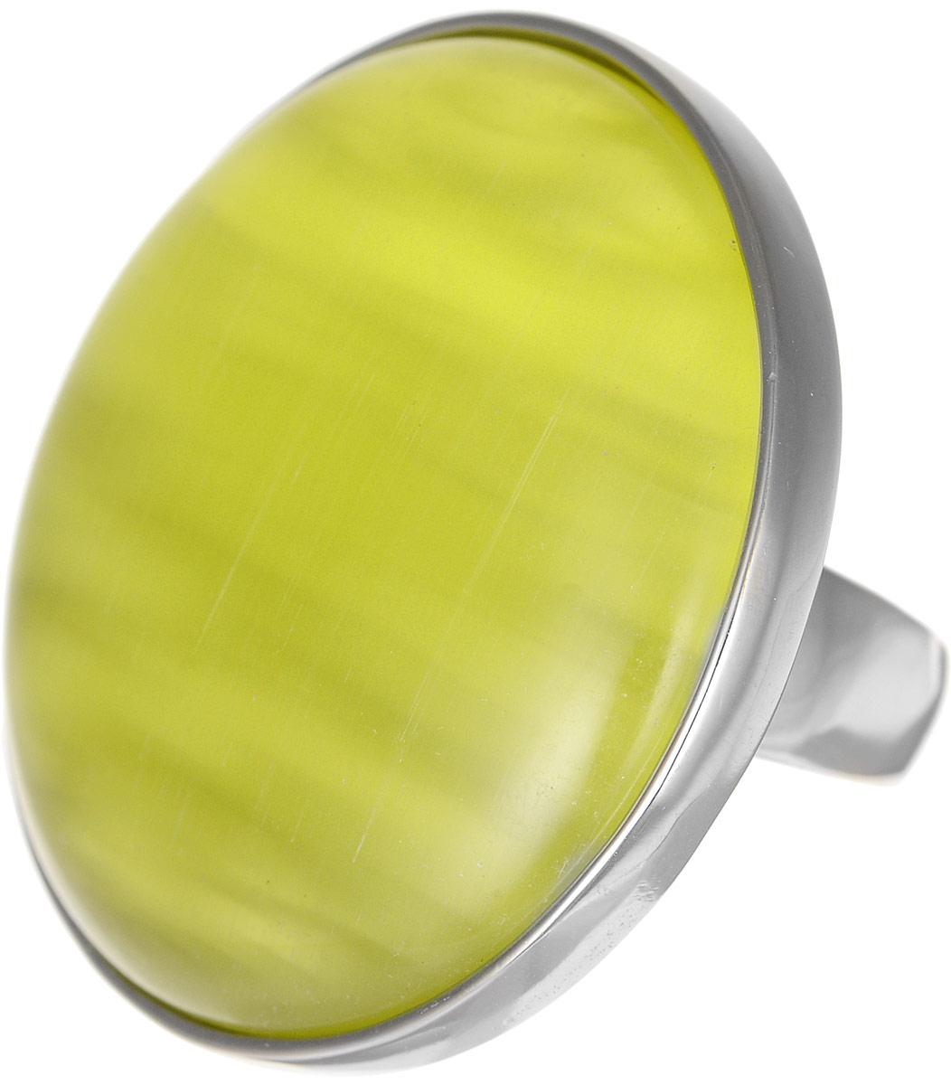 Кольцо Polina Selezneva, цвет: серебристый, желтый. DG-0021. Размер 18DG-0021-08Оригинальное кольцо Polina Selezneva, выполнено из металлического сплава. Декоративная часть оформлена в форме круга. Изделие украшено искусственным камнем. Такое кольцо это блестящее завершение вашего неповторимого и смелого образа и отличный подарок для ценительницы необычных украшений!
