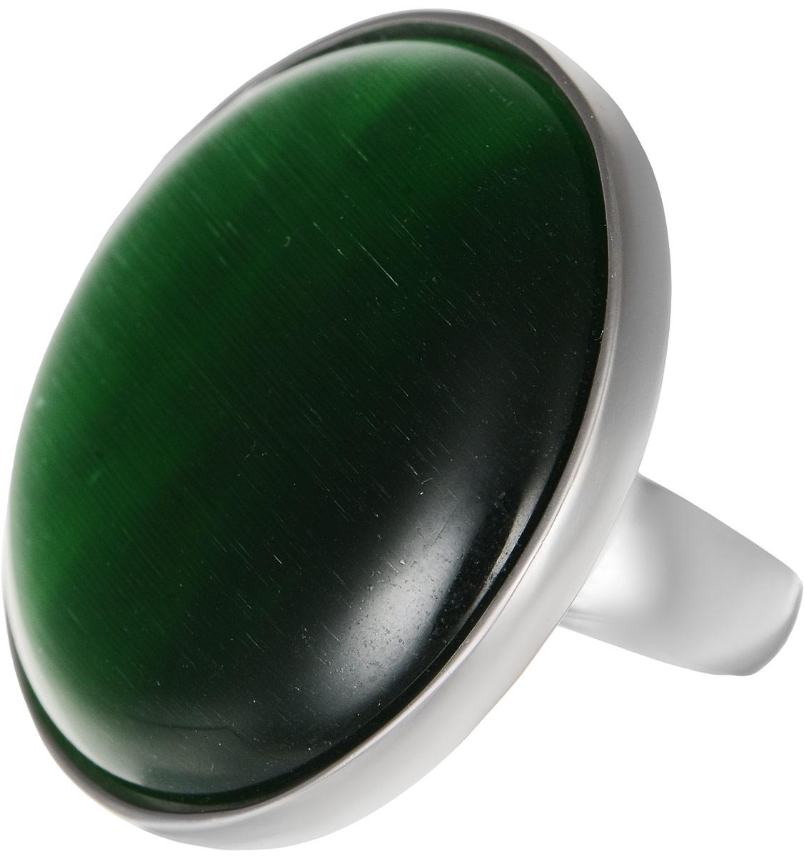 Кольцо Polina Selezneva, цвет: серебристый, зеленый. DG-0020. Размер 19DG-0020-09Оригинальное кольцо Polina Selezneva выполнено из бижутерийного сплава. Изделие круглой формы, дополнено искусственным камнем. Такое кольцо это блестящее завершение вашего неповторимого, смелого образа и отличный подарок для ценительницы необычных украшений!