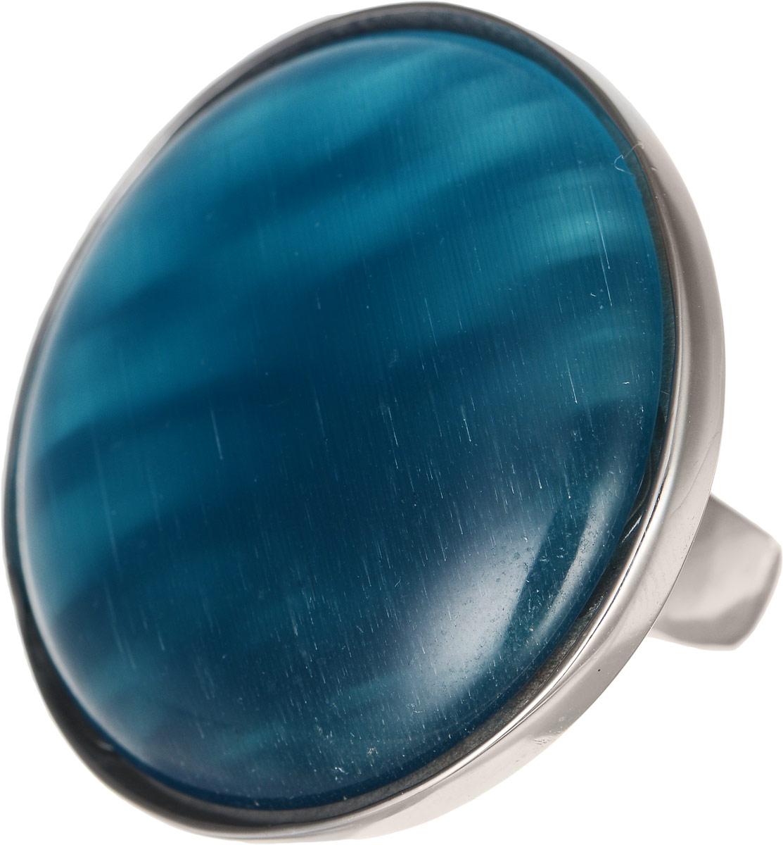 Кольцо Polina Selezneva, цвет: серебристый, синий. DG-0008. Размер 19DG-0008-09Оригинальное кольцо Polina Selezneva выполнено из бижутерийного сплава. Изделие круглой формы, дополнено искусственным камнем. Такое кольцо это блестящее завершение вашего неповторимого, смелого образа и отличный подарок для ценительницы необычных украшений!