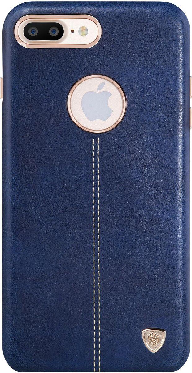 Nillkin Englon Leather Cover чехол для Apple iPhone 7 Plus, Blue2000000100302Чехол Nillkin Englon для Apple iPhone 7 Plus надежно защищает ваш смартфон от внешних воздействий, грязи, пыли, брызг. Он также поможет при ударах и падениях, не позволив образоваться на корпусе царапинам и потертостям. Внутри чехла встроена магнитная площадка для крепления к магнитным держателям. Чехол обеспечивает свободный доступ ко всем функциональным кнопкам смартфона и камере.