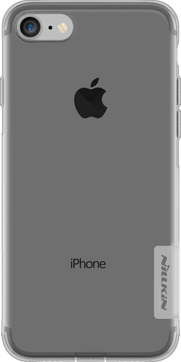 Nillkin Nature Case чехол для Apple iPhone 7, Grey2000000123899Чехол Nillkin Nature для Apple iPhone 7 надежно защитит ваш смартфон от внешних воздействий, грязи, пыли, брызг. Он также поможет при ударах и падениях, не позволив образоваться на корпусе царапинам и потертостям. Чехол обеспечивает свободный доступ ко всем функциональным кнопкам смартфона и камере.