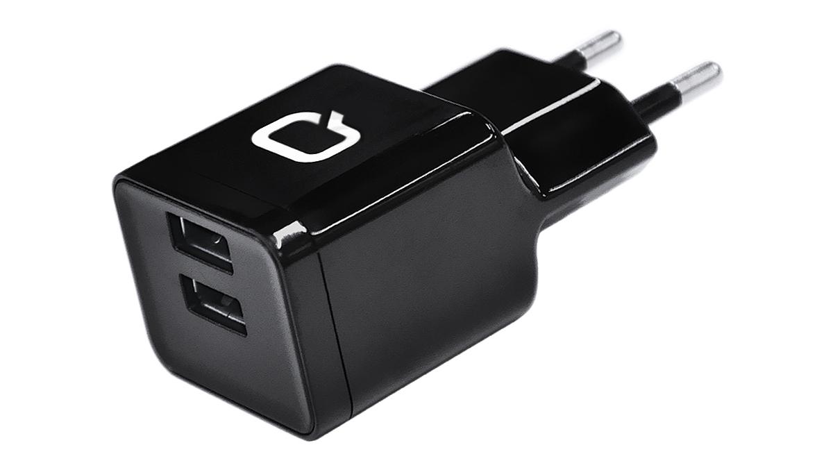 QUMO Energy 220.32 2USB, Black сетевое зарядное устройство20063Сетевое зарядное устройство QUMO Energy 220.32 2USB предназначено для питания и заряда аккумуляторов портативных устройств, через USB при использовании соответствующего кабеля от сети 100В/240В. Два порта USB позволят заряжать два девайса одновременно.
