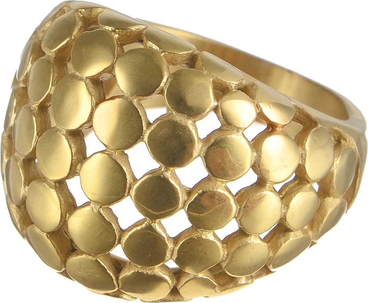 Кольцо Polina Selezneva, цвет: золотистый. DG-0041. Размер 18DG-0041-08Стильное кольцо Polina Selezneva изготовлено из латуни и выполнено в оригинальном дизайне. Кольцо оформлено декоративной перфорацией.