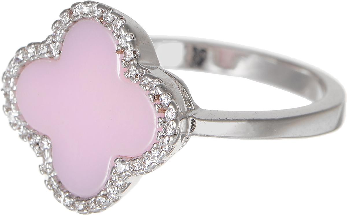 Кольцо Polina Selezneva, цвет: серебристый, розовый. DG-0072. Размер 19DG-0072-09Стильное кольцо Polina Selezneva изготовлено из качественного металлического сплава. Декоративная часть выполнена в виде цветка со вставкой из ювелирной смолы и стразов.