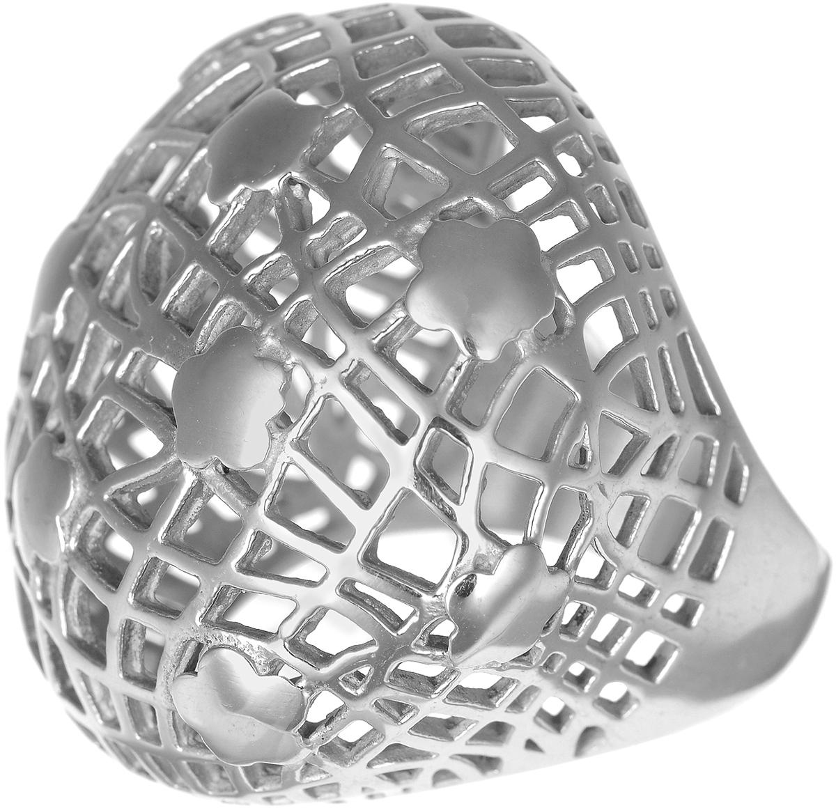 Кольцо Polina Selezneva, цвет: серебристый. DG-0001. Размер 18DG-0001Стильное кольцо Polina Selezneva изготовлено из качественного металлического сплава и выполнено в оригинальном дизайне. Массивное кольцо оформлено резным узором.