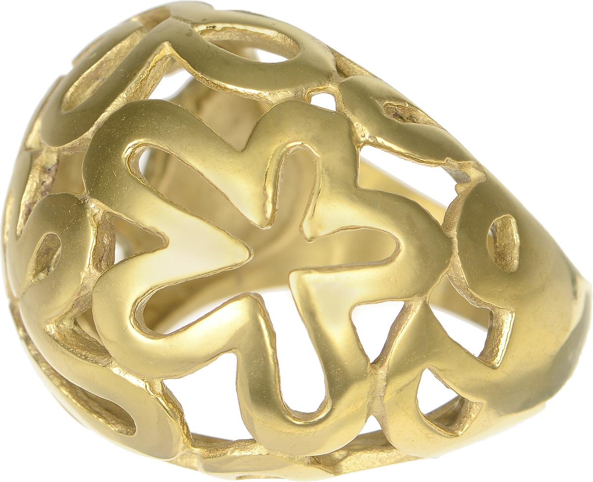Кольцо Polina Selezneva, цвет: золотистый. DG-0005. Размер 17DG-0005-07Стильное кольцо Polina Selezneva изготовлено из качественного металлического сплава и выполнено в оригинальном дизайне. Кольцо оформлено цветочным резным узором.