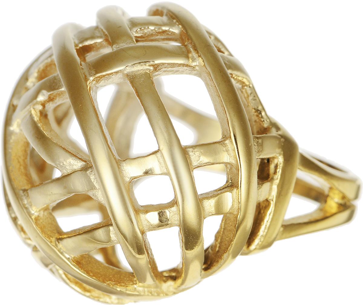 Кольцо Polina Selezneva, цвет: золотистый. DG-0014. Размер 17DG-0014-07Стильное кольцо Polina Selezneva изготовлено из качественного металлического сплава и выполнено в оригинальном дизайне. Кольцо оформлено резным узором.