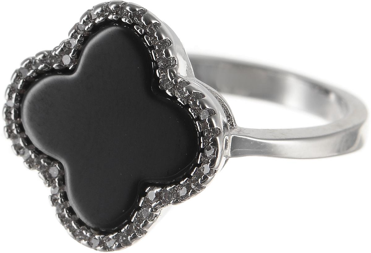 Кольцо Polina Selezneva, цвет: серебристый, черный. DG-0071. Размер 18DG-0071-08Оригинальное Polina Selezneva выполнено из бижутерийного сплава и оформлено стразами и вставкой из смолы. Такое кольцо это блестящее завершение вашего неповторимого и смелого образа и отличный подарок для ценительницы необычных украшений!