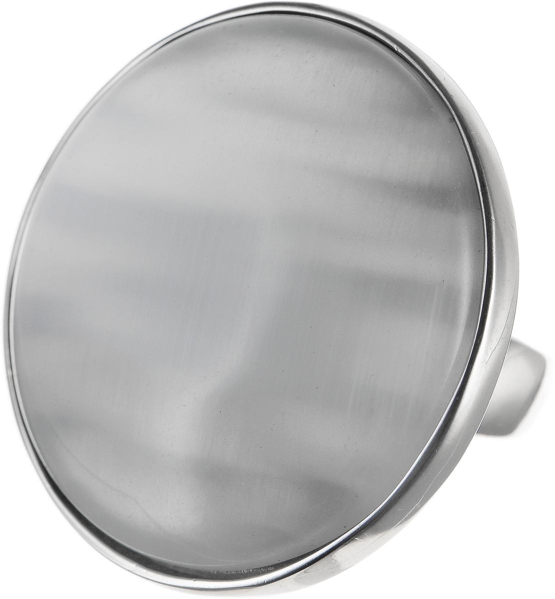 Кольцо Polina Selezneva, цвет: серебристый, перламутровый. DG-0003. Размер 18DG-0003-08Оригинальное кольцо Polina Selezneva выполнено из бижутерийного сплава. Изделие круглой формы, дополнено искусственным камнем. Такое кольцо это блестящее завершение вашего неповторимого, смелого образа и отличный подарок для ценительницы необычных украшений!