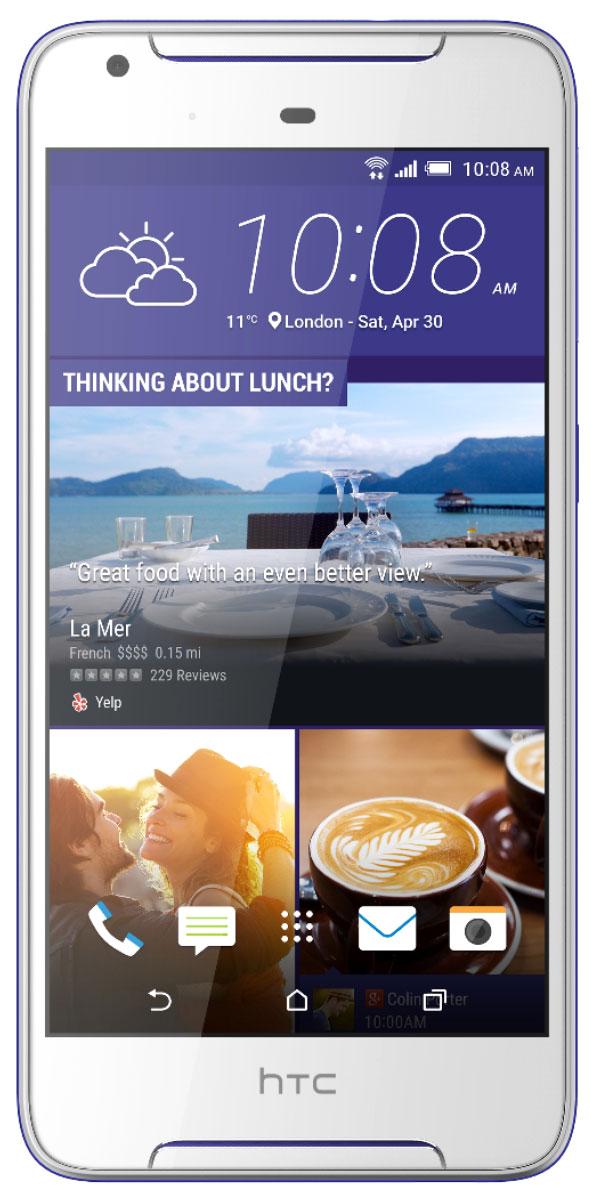 HTC Desire 628, Cobalt White99HAKA022-00Задача обратить на себя внимание еще никогда не решалась настолько просто. HTC Desire - это контрастное сочетание цветов корпуса и отличный дизайн, которые точно не останутся незамеченными. Начинка смартфона тоже поражает: отличные основная и фронтальная камеры, четкий HD экран, звук с эффектом погружения и профиль громкого звука HTC BoomSound. HTC Desire 628 разрушает стереотипы: в отделке корпуса сочетаются яркие высококонтрастные цвета, а фронтальная часть полностью покрыта стеклом, плавно переходящим в боковую грань, что оставляет ощущение завершенности и лаконичности. HTC Desire 628 - это не только яркий привлекательный дизайн. С помощью приложения HTC Темы можно оформить рабочий экран смартфона в своем вкусе. Меняй форму и размер иконок, шрифт, мелодии звонка и обои - теперь все в твоих руках! Для оформления можно выбрать одну из сотен готовых тем или же создать свою собственную тему на основе понравившейся фотографии. С HTC...
