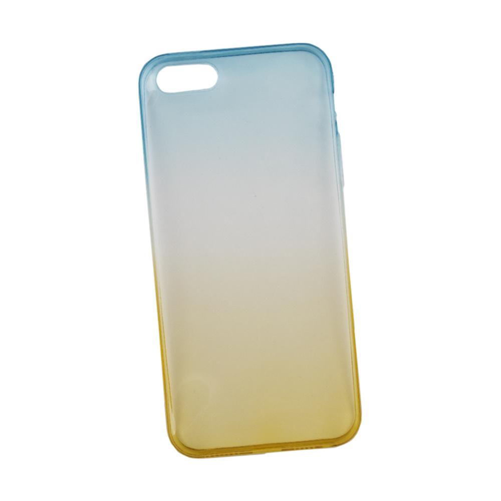 Liberty Project чехол для Apple iPhone 5/5s, Yellow Blue0L-00027298Чехол Liberty Project для Apple iPhone 5/5s надежно защищает ваш смартфон от внешних воздействий, грязи, пыли, брызг. Он также поможет при ударах и падениях, не позволив образоваться на корпусе царапинам и потертостям. Чехол обеспечивает свободный доступ ко всем разъемам и кнопкам устройства.