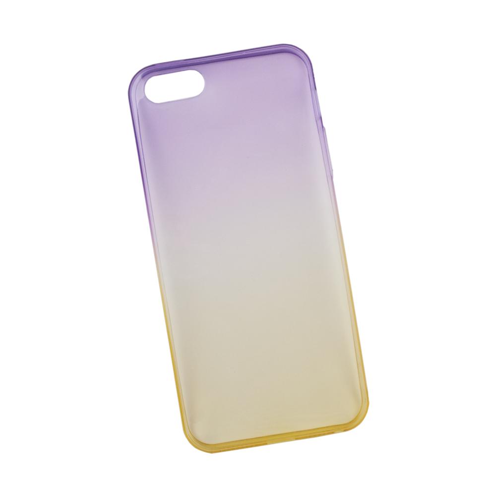 Liberty Project чехол для Apple iPhone 5/5s, Purple Yellow0L-00027380Чехол Liberty Project для Apple iPhone 5/5s надежно защищает ваш смартфон от внешних воздействий, грязи, пыли, брызг. Он также поможет при ударах и падениях, не позволив образоваться на корпусе царапинам и потертостям. Чехол обеспечивает свободный доступ ко всем разъемам и кнопкам устройства.
