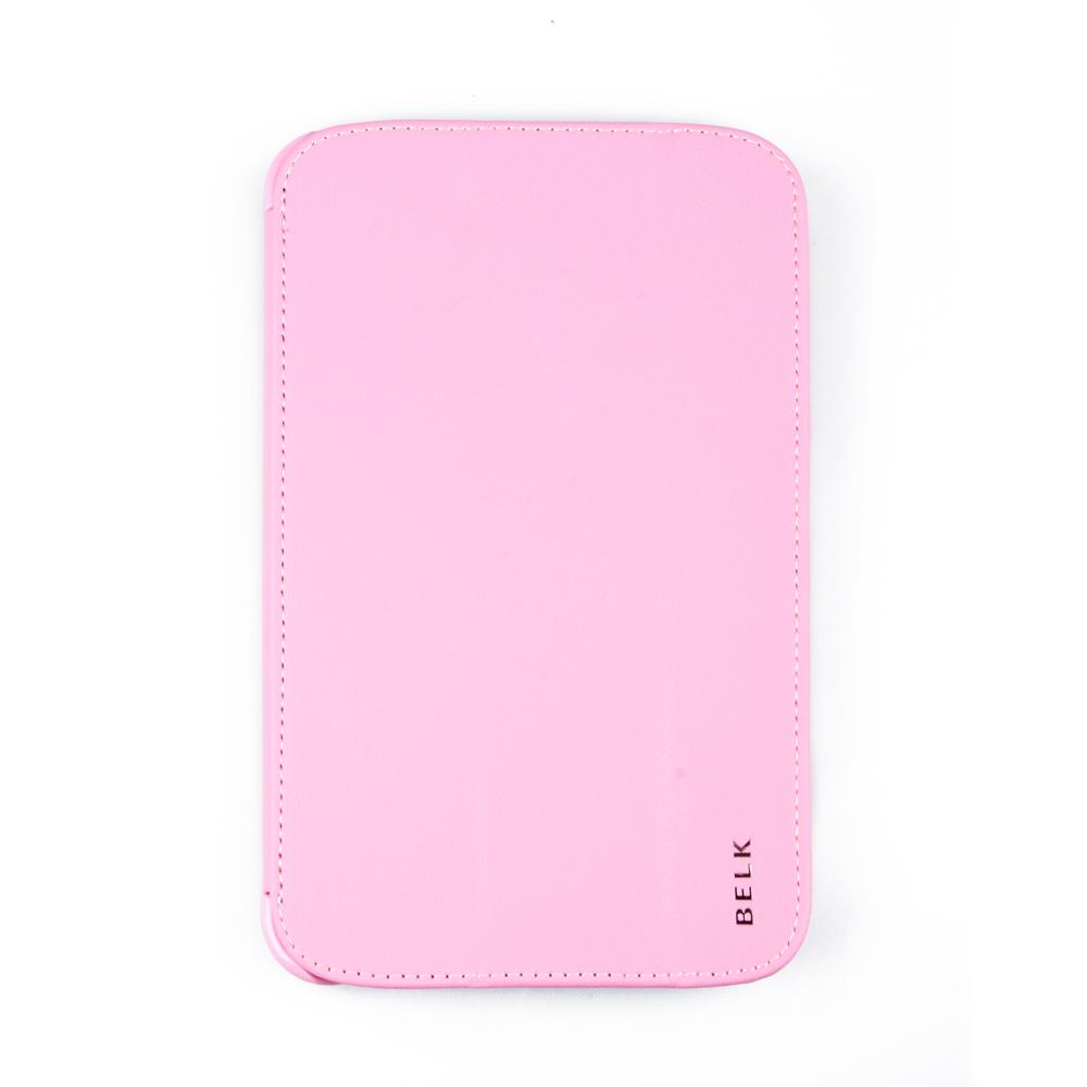 Belk чехол для Samsung Galaxy Tab 3 7.0, PinkR0000330Чехол Belk для Samsung Galaxy Tab 3 7.0 надежно защищает ваш планшет от внешних воздействий, грязи, пыли, брызг. Он также поможет при ударах и падениях, не позволив образоваться на корпусе царапинам и потертостям. Чехол обеспечивает свободный доступ ко всем разъемам и кнопкам устройства.