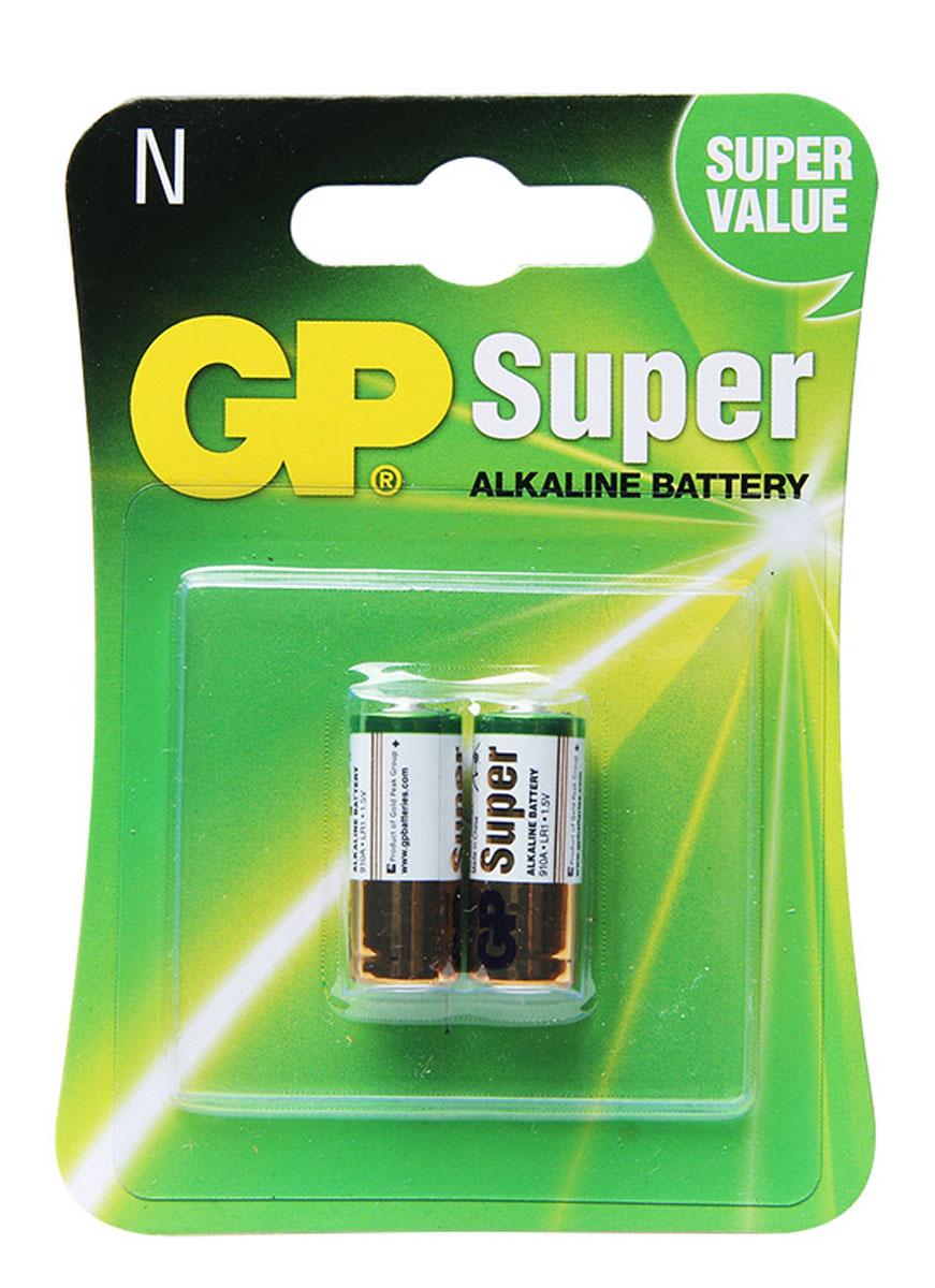 Набор алкалиновых батареек GP Batteries, тип 910А (LR01), 2 шт8465Батарейки GP Super Alkaline прекрасно подходят для увеличивающейся потребности в источниках питания для устройств повседневного использования. Идеальное соотношение цена/качество. Надежный продукт широкого спектра применения, подходящий для потребителей всех возрастов. * Увеличенная продолжительность работы * Огромный ассортимент типоразмеров * Длительный срок хранения (до 7 лет)