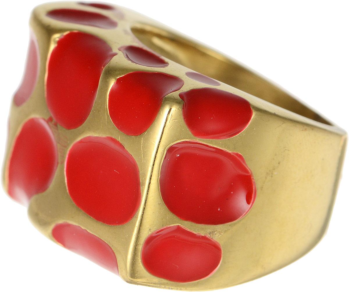 Кольцо Polina Selezneva, цвет: золотистый, красный. DG-0019. Размер 18DG-0019-08Оригинальное кольцо Polina Selezneva выполнено из бижутерийного сплава и оформлено в виде прямоугольника. Дополнено изделие вставками с эмалью. Такое кольцо это блестящее завершение вашего неповторимого, смелого образа и отличный подарок для ценительницы необычных украшений!