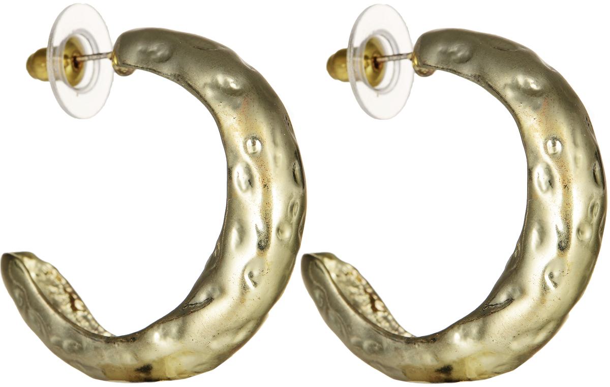 Серьги Polina Selezneva, цвет: золотистый. CG-0001CG-0001Серьги Polina Selezneva изготовлены из латуни и выполнены в оригинальном дизайне. Изделие застегивается с помощью замка-гвоздика.