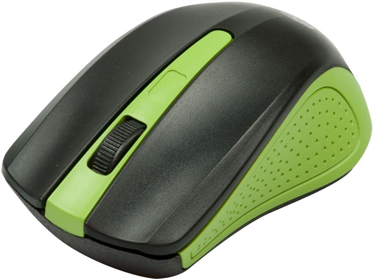 Ritmix RMW-555, Black Green мышь