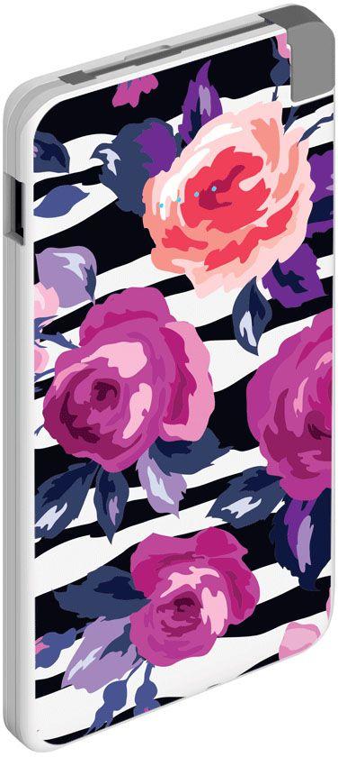 Deppa NRG Art Pastel Розы внешний аккумулятор (5000 мАч)