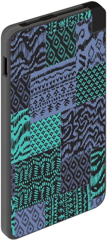 Deppa NRG Art Black Мозаика внешний аккумулятор (5000 мАч) 301010