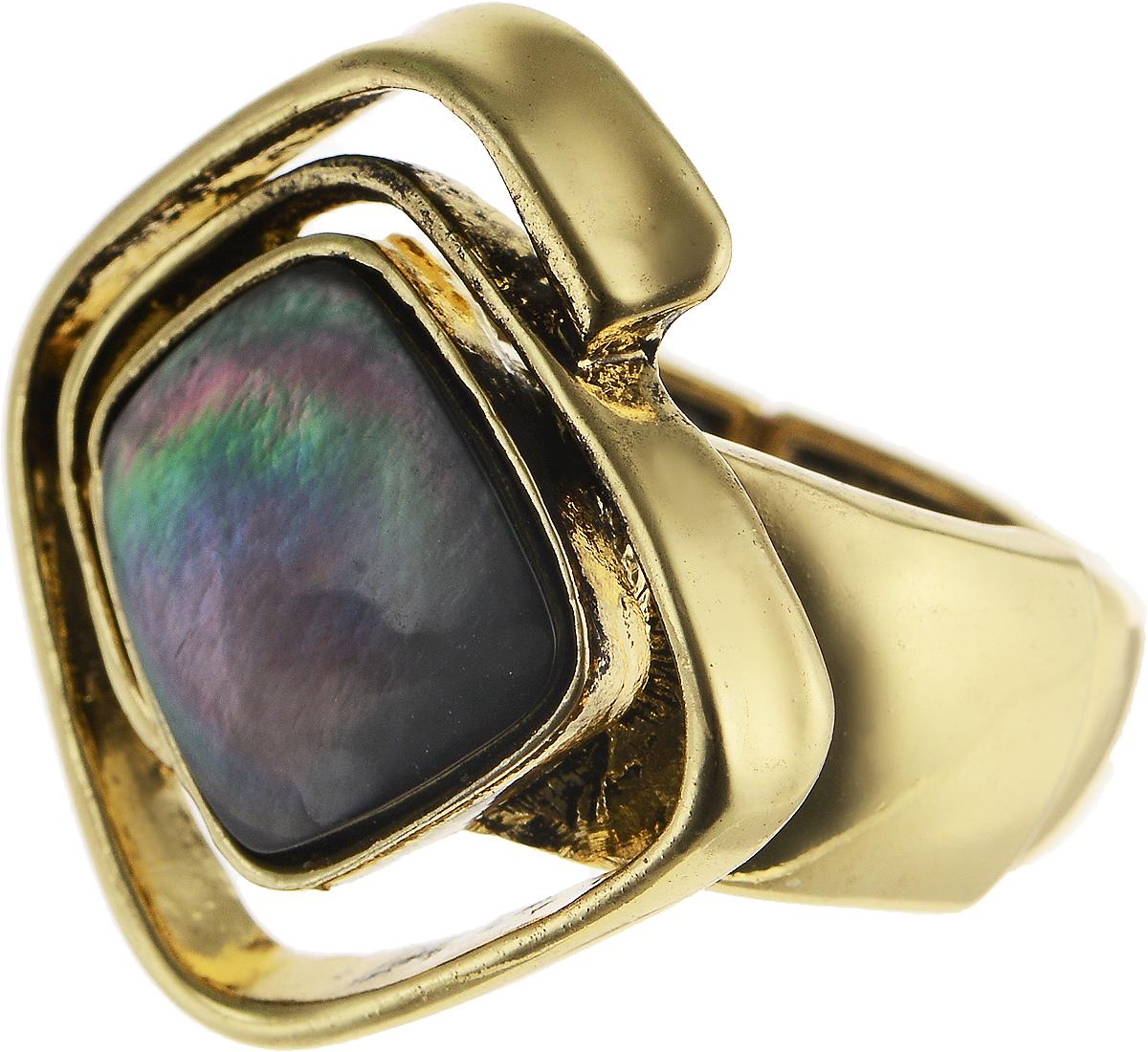 Кольцо Модные истории, цвет: золотистый. 17/004817/0048Стильное растягивающееся кольцо Модные истории выполнено из бижутерийного сплава с гальваническим покрытием. Изделие имеет закрученную форму с вставкой из натурального перламутра. Оригинальное кольцо придаст вашему образу изюминку, подчеркнет индивидуальность.