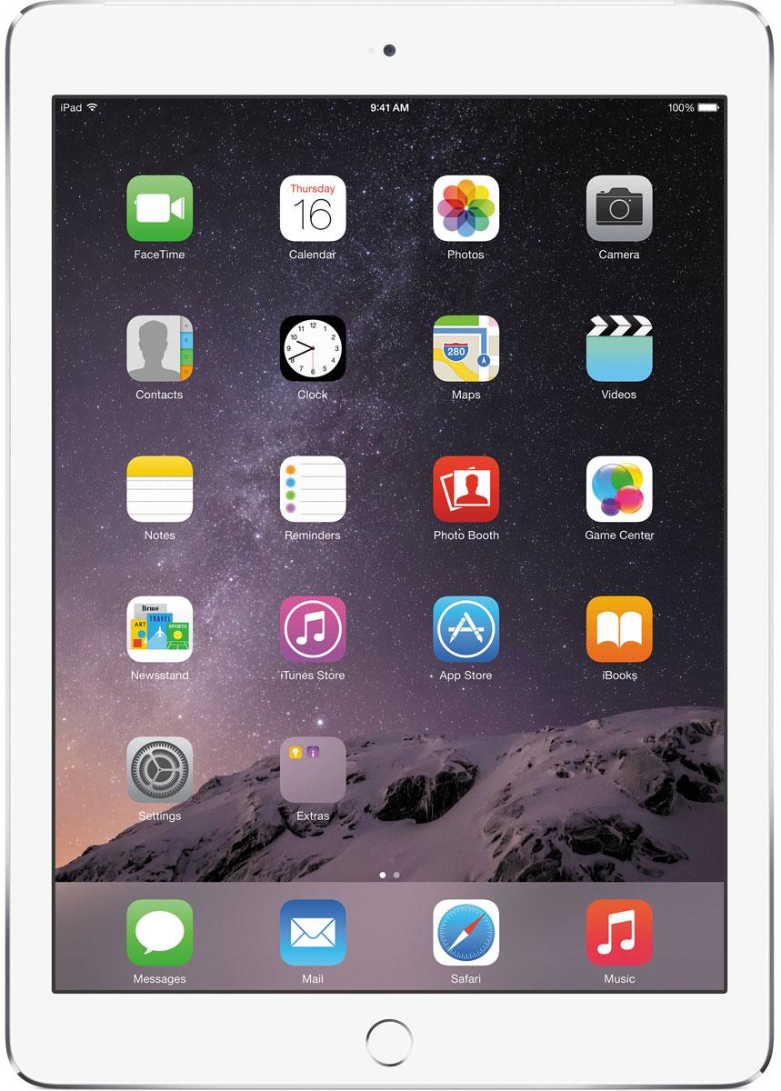 Apple iPad Air 2 Wi-Fi + Cellular 32GB, SilverMNVQ2RU/AApple iPad Air 2 приносит новые ощущения от пользования планшетами. Отныне устройство становится тонким на столько на сколько это возможно вообще. Первое, на что обращаешь внимание - насколько тонкое и лёгкое устройство у вас в руках. Толщина iPad Air 2 - всего 6,1 миллиметра. А весит он менее 450 грамм. Его ещё легче держать одной рукой и брать с собой повсюду. Жидкокристаллический слой дисплея стал ближе к вам и вашим пальцам. Когда вы касаетесь экрана, кажется, будто между вами и вашим контентом ничего нет. Кроме того, повышена чувствительность экрана. Он теперь ещё лучше реагирует на ваши движения и воспринимает даже самые быстрые жесты. Вы можете играть, работать в интернете, смотреть фотографии или видео - чем бы вы ни занимались, всё работает удивительно плавно. Дисплей iPad Air 2 покрыт специальным антибликовым покрытием, на 56 процентов уменьшающим объём отражённого света - мало планшетов могут похвастаться тем же. Практически в любых условиях...
