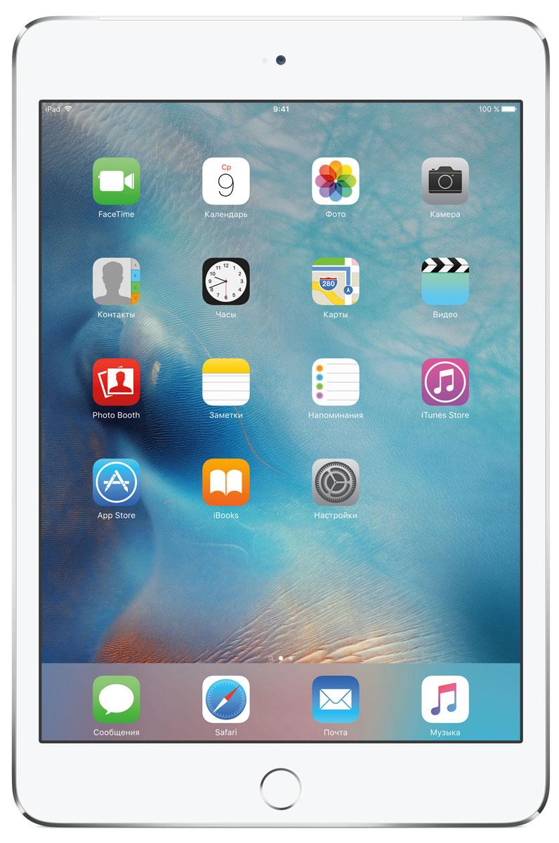 Apple iPad mini 4 Wi-Fi + Cellular 32GB, SilverMNWF2RU/AВ ещё более лёгком, тонком и элегантном корпусе iPad mini 4 помещается всё то, что вам так нравится в iPad. Игры, покупки, фильмы и даже работа - всё выглядит невероятно увлекательно на великолепном дисплее Retina. Теперь у вас ещё больше причин всегда брать iPad с собой. iPad mini 4 ещё никогда не был таким удобным. Его толщина всего 6,1 мм - и это никак не влияет на прочность. Надёжный и элегантный алюминиевый корпус unibody прослужит долгие годы и всегда будет радовать глаз. Дисплеи iPad mini предыдущих поколений производились из трёх отдельных компонентов. В iPad mini 4 их объединили в один. Исчезло расстояние между слоями, а вместе с ним и внутренние блики. Результат: на дисплее iPad mini 4 цвета стали ещё реалистичнее, а изображения выглядят контрастнее, ярче и резче. Процессор A8 второго поколения с 64-битной архитектурой - это сердце iPad mini 4. Благодаря невероятной производительности все приложения, от видеоредакторов до 3D-игр,...