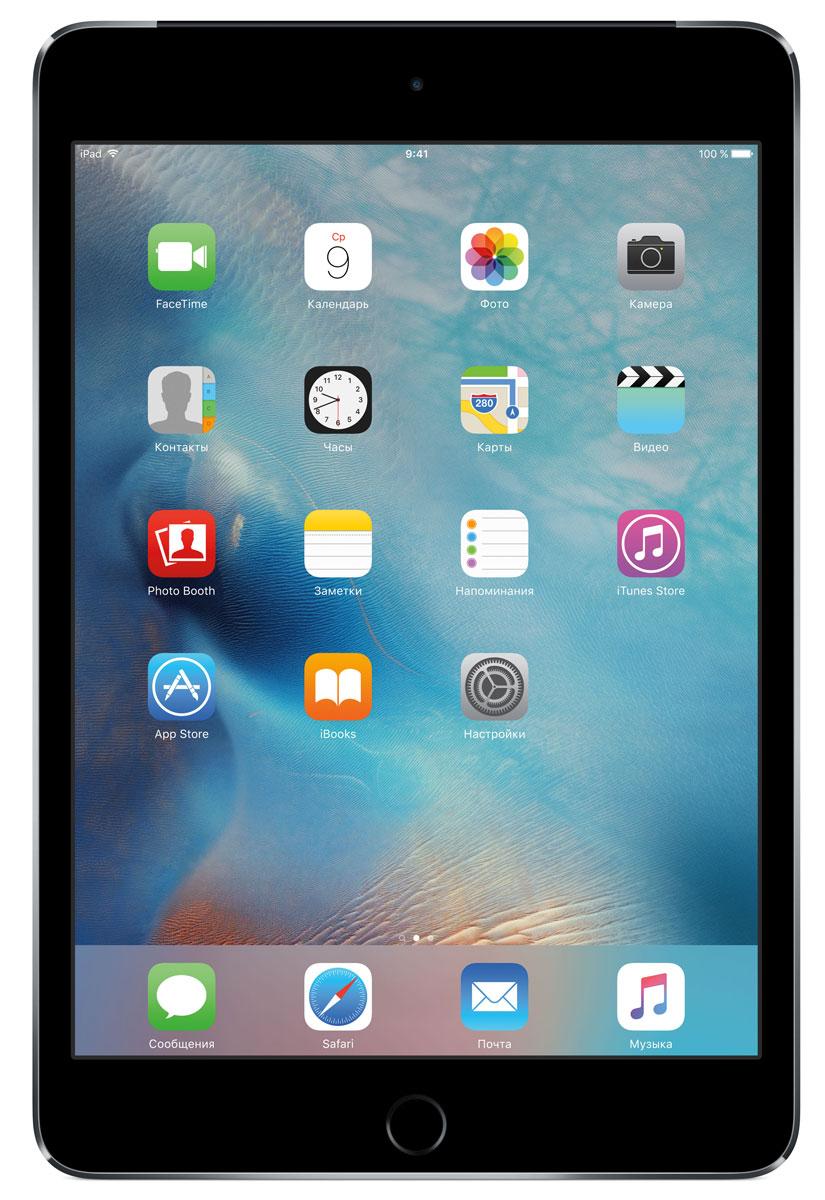 Apple iPad mini 4 Wi-Fi + Cellular 32GB, Space GrayMNWE2RU/AВ ещё более лёгком, тонком и элегантном корпусе iPad mini 4 помещается всё то, что вам так нравится в iPad. Игры, покупки, фильмы и даже работа - всё выглядит невероятно увлекательно на великолепном дисплее Retina. Теперь у вас ещё больше причин всегда брать iPad с собой. iPad mini 4 ещё никогда не был таким удобным. Его толщина всего 6,1 мм - и это никак не влияет на прочность. Надёжный и элегантный алюминиевый корпус unibody прослужит долгие годы и всегда будет радовать глаз. Дисплеи iPad mini предыдущих поколений производились из трёх отдельных компонентов. В iPad mini 4 их объединили в один. Исчезло расстояние между слоями, а вместе с ним и внутренние блики. Результат: на дисплее iPad mini 4 цвета стали ещё реалистичнее, а изображения выглядят контрастнее, ярче и резче. Процессор A8 второго поколения с 64-битной архитектурой - это сердце iPad mini 4. Благодаря невероятной производительности все приложения, от видеоредакторов до 3D-игр,...