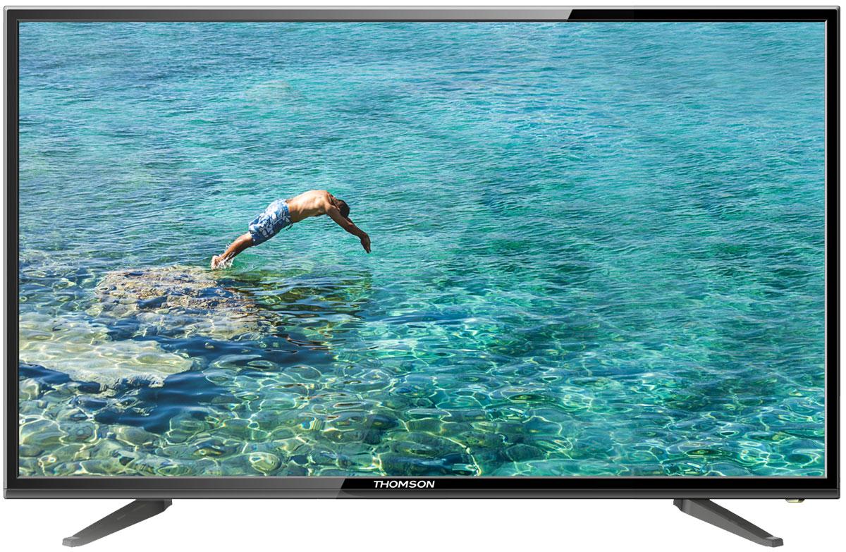 Thomson T39D20DH-01B телевизорThomson T39D20DH-01BThomson T39D20DH-01B - идеальный выбор для тех, кто ищет стильный ЖК-телевизор с ярким качественным экраном, обладающий востребованными функциями. Дисплей выполнен с применением технологии D-LED, что улучшает качество картинки и повышает энергоэффективность. Телевизор способен принимать сигнал цифрового телевидения DVB-T2 без дополнительного тюнера. Еще одно существенное преимущество модели - возможность воспроизведения файлов с USB-накопителей, благодаря которым можно просматривать видео с внешних носителей без использования видео-плеера. Имеются 3 HDMI-входа, благодаря которым к телевизору могут подключаться современные устройства, поддерживающие разрешение высокой четкости. Thomson T39D20DH-01B обладает рядом функций, позволяющих добиться наилучшего качества картинки и звука. В их числе шумоподавление и технология задней подсветки. Кроме того, телевизор оснащен удобной функцией TimeShift, благодаря которой при условии подключения к...