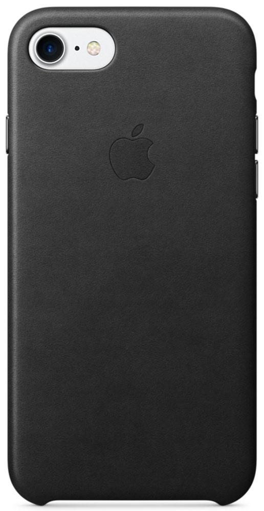 Apple Leather Case чехол для iPhone 7, Black