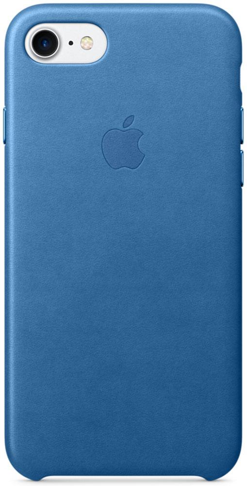 Apple Leather Case чехол для iPhone 7, Sea Blue