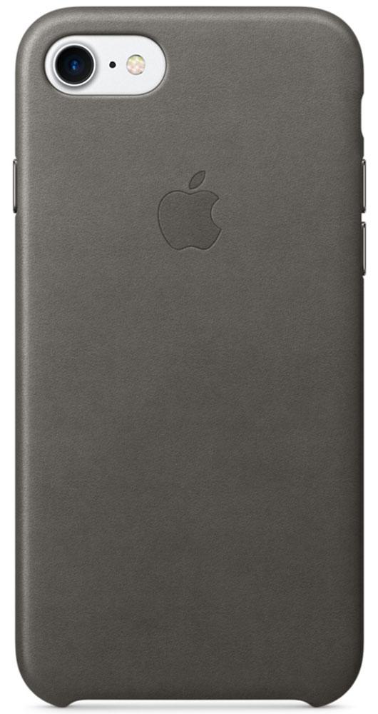 Apple Leather Case чехол для iPhone 7, Storm Gray