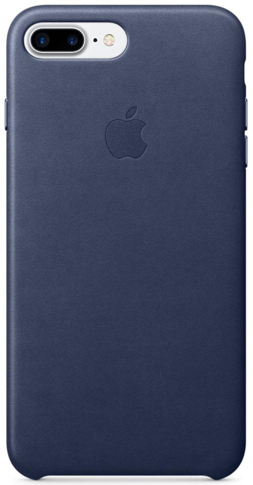 Apple Leather Case чехол для iPhone 7 Plus, Midnight Blue