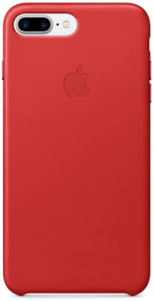 Apple Leather Case чехол для iPhone 7 Plus, Red