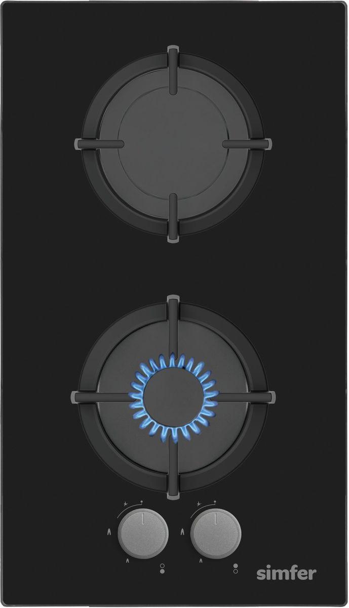 Simfer H30N20B411 панель варочная газоваяH30N20B411Газовая варочная панель Simfer H30N20B411 с чистым пламенем доведет вашу сковороду до нужной температуры без всяких задержек. Включите её и всё днище сковороды будет моментально нагрето. Благодаря идеальному расположению панели управления и индикатора уровня мощности прямо спереди этой варочной панели, любой повар, будь он левша или правша, сможет пользоваться ими с одинаковой лёгкостью. Газовая варочная поверхностьSimfer H30N20B411 упрощает приготовление и делает его безопаснее благодаря особой форме подставок, обеспечивающих абсолютную устойчивость посуды. Нет способа быстрее и удобнее для того, чтобы разжечь конфорку, чем автоподжиг варочной панели. Просто поверните ручку, чтобы открыть и зажечь газ одним плавным движением.