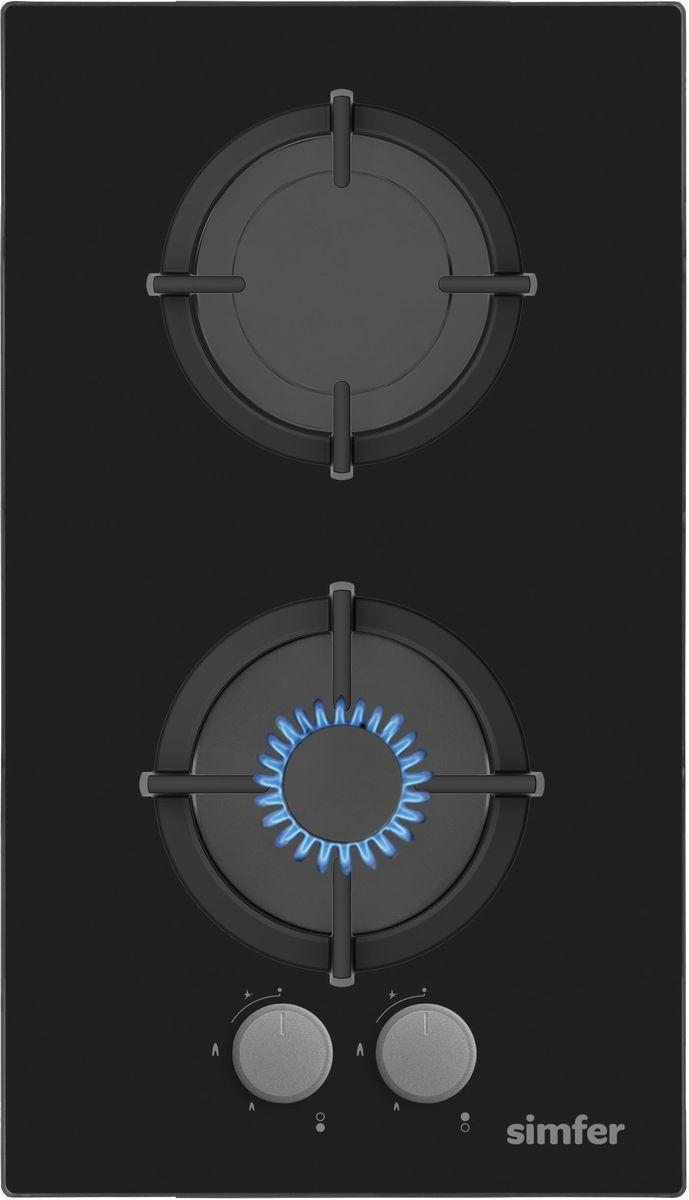 Simfer H30N20B512 панель варочная газоваяH30N20B512Газовая варочная панель Simfer H30N20B512 с чистым пламенем доведет вашу сковороду до нужной температуры без всяких задержек. Включите её и всё днище сковороды будет моментально нагрето. Благодаря идеальному расположению панели управления и индикатора уровня мощности прямо спереди этой варочной панели, любой повар, будь он левша или правша, сможет пользоваться ими с одинаковой лёгкостью. Газовая варочная поверхность Simfer H30N20B5121 упрощает приготовление и делает его безопаснее благодаря особой форме подставок, обеспечивающих абсолютную устойчивость посуды. Нет способа быстрее и удобнее для того, чтобы разжечь конфорку, чем автоподжиг варочной панели. Просто поверните ручку, чтобы открыть и зажечь газ одним плавным движением.