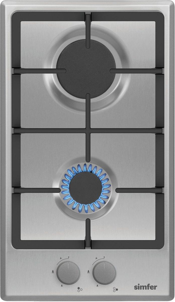 Simfer H30V20M511 панель варочная газоваяH30V20M511Газовая варочная панель Simfer H30V20M511 с чистым пламенем доведет вашу сковороду до нужной температуры без всяких задержек. Включите её и всё днище сковороды будет моментально нагрето. Благодаря идеальному расположению панели управления и индикатора уровня мощности прямо спереди этой варочной панели, любой повар, будь он левша или правша, сможет пользоваться ими с одинаковой лёгкостью. Газовая варочная поверхность Simfer H30V20M511 упрощает приготовление и делает его безопаснее благодаря особой форме подставок, обеспечивающих абсолютную устойчивость посуды. Нет способа быстрее и удобнее для того, чтобы разжечь конфорку, чем автоподжиг варочной панели. Просто поверните ручку, чтобы открыть и зажечь газ одним плавным движением.