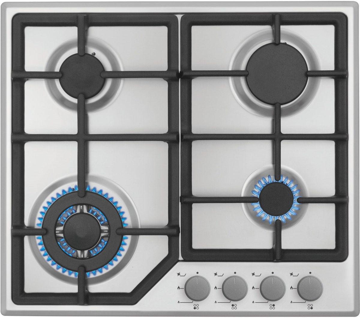Simfer H60M41M412 панель варочная газоваяH60M41M412Газовая варочная панель Simfer H60M41M412 с чистым пламенем доведет вашу сковороду до нужной температуры без всяких задержек. Включите её и всё днище сковороды будет моментально нагрето. Благодаря идеальному расположению панели управления и индикатора уровня мощности прямо спереди этой варочной панели, любой повар, будь он левша или правша, сможет пользоваться ими с одинаковой лёгкостью. Газовая варочная поверхность Simfer H60M41M412 упрощает приготовление и делает его безопаснее благодаря особой форме подставок, обеспечивающих абсолютную устойчивость посуды. Нет способа быстрее и удобнее для того, чтобы разжечь конфорку, чем автоподжиг варочной панели. Просто поверните ручку, чтобы открыть и зажечь газ одним плавным движением.
