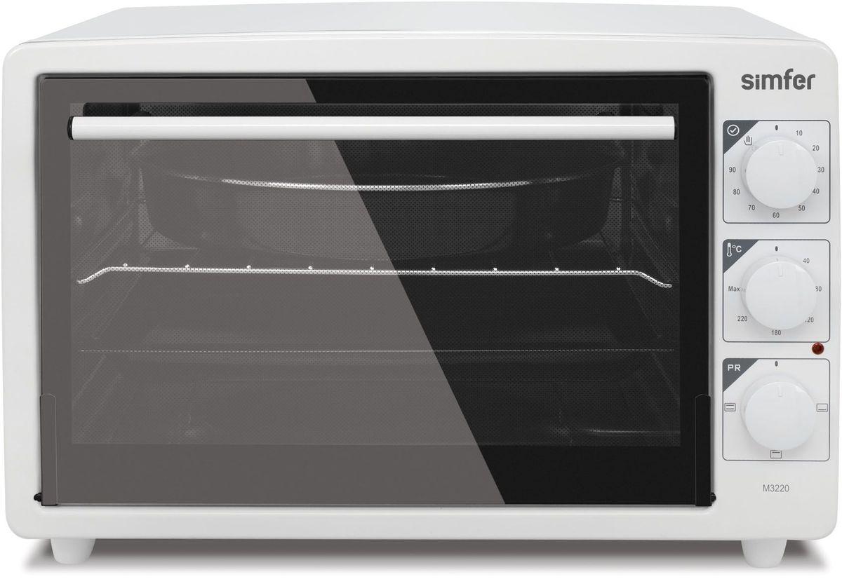 Simfer M3670 мини-печьM3670Simfer M3670 - компактная духовка с внутренним объемом 36 литров. Идеально подходит как для деликатного приготовления пищи, так и для приготовления блюд с хрустящей корочкой. Оснащена механическим таймером и тремя режимами нагрева: верхний, нижний и комбинированный. Легко очищается, комплектуется решеткой для гриля и противнем для выпекания.