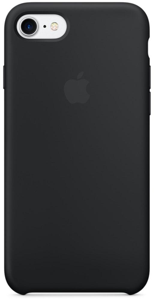 Apple Silicone Case чехол для iPhone 7, BlackMMW82ZM/AApple Silicone Case плотно прилегает к кнопкам громкости и режима сна, точно повторяет контуры телефона, но при этом не делает его громоздким. Мягкая подкладка из микроволокна защищает корпус iPhone. А его внешняя силиконовая поверхность очень приятна на ощупь.