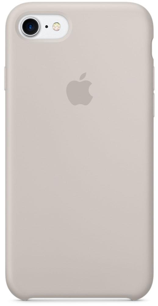 Apple Silicone Case чехол для iPhone 7, StoneMMWR2ZM/AApple Silicone Case плотно прилегает к кнопкам громкости и режима сна, точно повторяет контуры телефона, но при этом не делает его громоздким. Мягкая подкладка из микроволокна защищает корпус iPhone. А его внешняя силиконовая поверхность очень приятна на ощупь.
