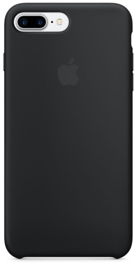 Apple Silicone Case чехол для iPhone 7 Plus, BlackMMQR2ZM/AApple Silicone Case плотно прилегает к кнопкам громкости и режима сна, точно повторяет контуры телефона, но при этом не делает его громоздким. Мягкая подкладка из микроволокна защищает корпус iPhone. А его внешняя силиконовая поверхность очень приятна на ощупь.