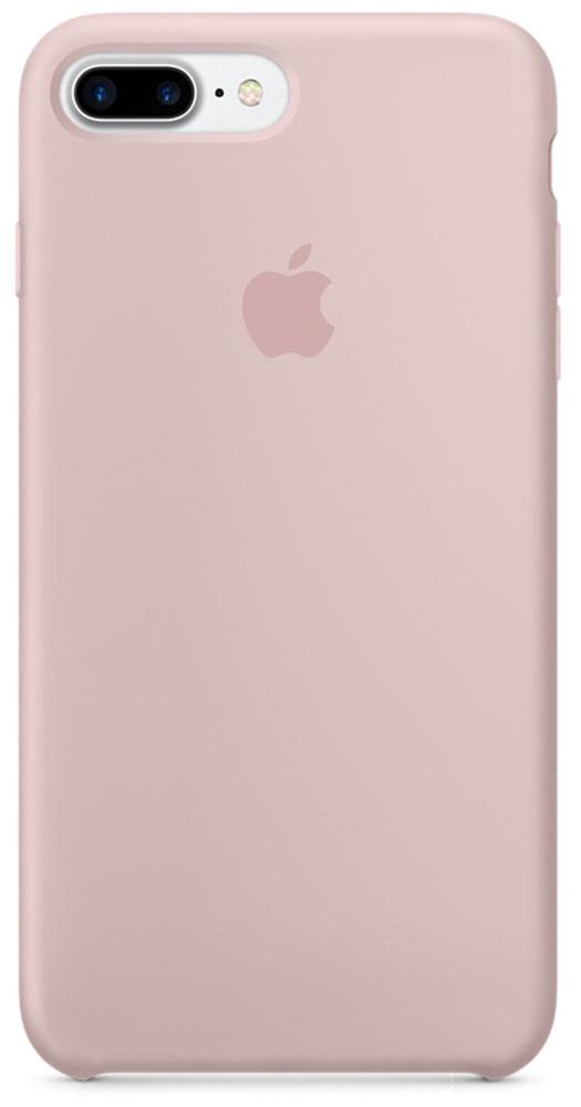 Apple Silicone Case чехол для iPhone 7 Plus, Pink SandMMT02ZM/AApple Silicone Case плотно прилегает к кнопкам громкости и режима сна, точно повторяет контуры телефона, но при этом не делает его громоздким. Мягкая подкладка из микроволокна защищает корпус iPhone. А его внешняя силиконовая поверхность очень приятна на ощупь.
