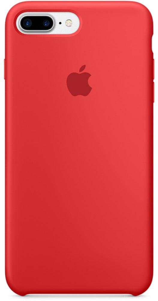 Apple Silicone Case чехол для iPhone 7 Plus, RedMMQV2ZM/AApple Silicone Case плотно прилегает к кнопкам громкости и режима сна, точно повторяет контуры телефона, но при этом не делает его громоздким. Мягкая подкладка из микроволокна защищает корпус iPhone. А его внешняя силиконовая поверхность очень приятна на ощупь.