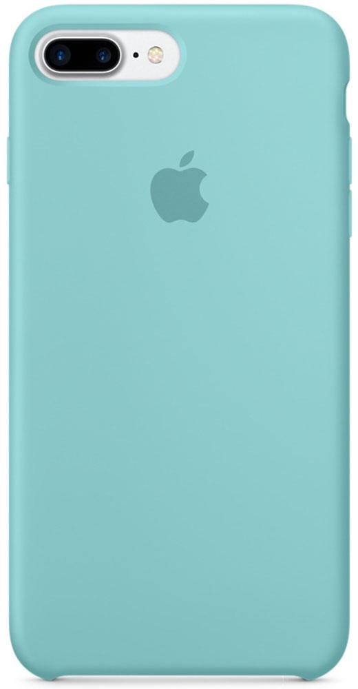 Apple Silicone Case чехол для iPhone 7 Plus, Sea BlueMMQY2ZM/AApple Silicone Case плотно прилегает к кнопкам громкости и режима сна, точно повторяет контуры телефона, но при этом не делает его громоздким. Мягкая подкладка из микроволокна защищает корпус iPhone. А его внешняя силиконовая поверхность очень приятна на ощупь.