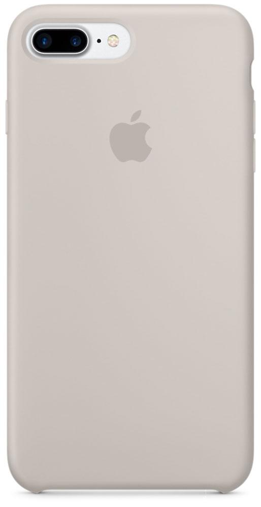 Apple Silicone Case чехол для iPhone 7 Plus, StoneMMQW2ZM/AApple Silicone Case плотно прилегает к кнопкам громкости и режима сна, точно повторяет контуры телефона, но при этом не делает его громоздким. Мягкая подкладка из микроволокна защищает корпус iPhone. А его внешняя силиконовая поверхность очень приятна на ощупь.