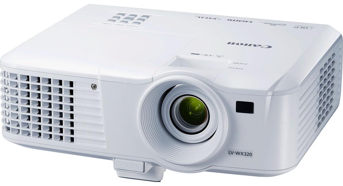 Canon LV-WX320 мультимедийный проектор0908C003Canon LV-WX320 - портативный проектор WXGA обеспечивает яркие, высококачественные изображения и отличается исключительной компактностью и легкостью. Совместимость с HDMI и MHL, а также наличие сетевого порта обеспечивают оптимальное соотношение цены и качества. Данная модель станет идеальным выбором для организаций, которые ищут недорогой портативный проектор высокого качества. Оцените невероятно четкие и резкие широкоформатные изображения благодаря базовому разрешению WXGA (1280 x 800 пикселей) и соотношению сторон 16:10. Неизменные яркость цветов и насыщенность оттенков черного достигаются благодаря яркости проектора 3200 люмен и коэффициенту контрастности 10 000:1. Обеспечьте геометрическую точность изображений благодаря коррекции вертикальных и горизонтальных трапецеидальных искажений на +/- 30°. Для увеличения удобства использования ручной зум 1,1x позволяет выполнять четкое и точное проецирование даже в ограниченных пространствах. А в...