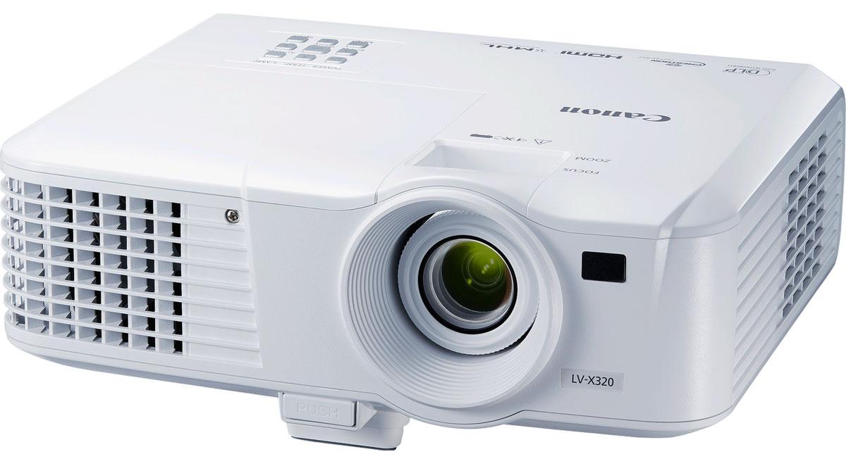 Canon LV-X320 мультимедийный проектор0910C003Портативный проектор Canon LV-X320 — это небольшое и легкое устройство, которое обеспечивает яркие изображения. Благодаря надежной работе и простоте в обслуживании этот проектор станет прекрасным выбором для тех, кто ищет высококачественный и недорогой вариант. Ваша аудитория оценит точные и четкие изображения в базовом разрешении XGA (1024 x 768 пикселей) с яркими, естественными цветами и насыщенными оттенками черного, которые достигаются благодаря яркости проектора 3200 люмен и коэффициенту контрастности 10 000:1. Технология DLP-панели устраняет искажения изображений и обеспечивает более естественную яркость, чем другие портативные проекторы в этом ценовом диапазоне, что делает данный проектор прекрасным выбором для покупателей с ограниченным бюджетом. Даже в ограниченных пространствах можно проецировать изображения с геометрической точностью благодаря коррекции вертикальных и горизонтальных трапецеидальных искажений на +/- 30°. Для увеличения удобства...