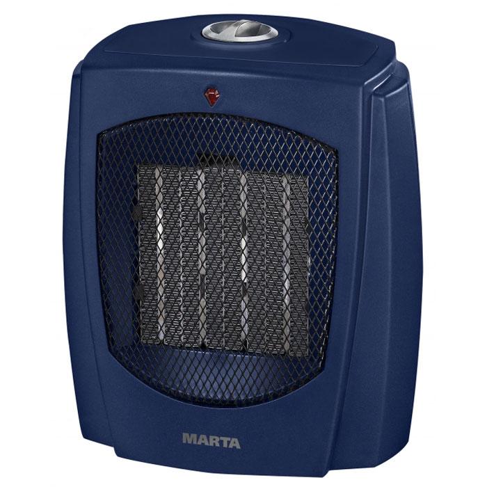 Marta MT-2499, Blue Sapphire тепловентиляторMT-2499Тепловентилятор с керамическим нагревательным элементом Marta MT-2499 служит для быстрого прогрева помещения с наименьшими затратами электроэнергии. Принудительно нагнетая горячий воздух, тепловентилятор заставляет его циркулировать, смешиваясь с холодным, благодаря чему прогрев помещения происходит значительно быстрее, чем в случае обычных обогревателей. Керамический нагревательный элемент создан из природного натурального материала, не выделяет при нагревании вредных примесей, не имеет запаха и очень быстро достигает рабочей температуры, сохраняя оптимальной влажность воздуха. Тепловентилятор Marta MT-2499 может работать в режиме обычного вентилятора, а также нагнетать теплый или горячий воздух. Используя разные режимы работы можно добиться установления в помещении устойчивого и комфортного микроклимата. Материал корпуса – термостойкий пластик абсолютно безвреден и соответствует всем стандартам безопасности. Керамический нагревательный элемент Создан...