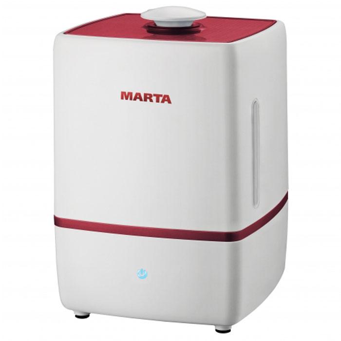 Marta MT-2659, Light Garnet увлажнитель воздухаMT-2659Увлажнитель воздуха Marta MT-2659 бесшумно нормализует уровень влажности в помещении до идеального уровня. Вы почувствуете разницу очень скоро, ведь от уровня влажности зависит и степень вашей работоспособности, и качество отдыха. Три режима интенсивности увлажнения позволяет создавать необходимый именно вам микроклимат, как дома, так и в офисе. Marta MT-2659 оснащен вместительным пятилитровым резервуаром. При расходе воды всего 250 мл/ч, такой объем позволяет поддерживать комфортные условия в жилом помещении на протяжении суток. Удобное и простое управление осуществляется при помощи сенсорной панели со светодиодной индикацией. Кроме того, вы можете использовать картридж арома-фильтра для насыщения воздуха вашим любимым ароматом.
